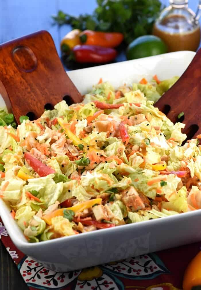 18.Thai Chicken Chopped Salad with Peanut Dressing