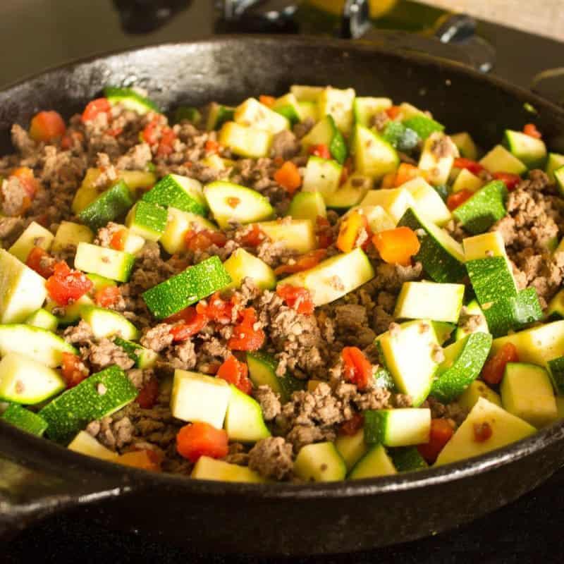 18. Zucchini Ground Beef Skillet