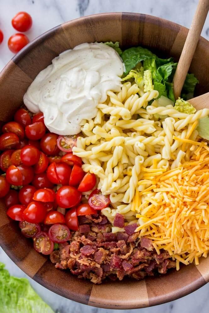 19. 15 Minute BLT Pasta Salad