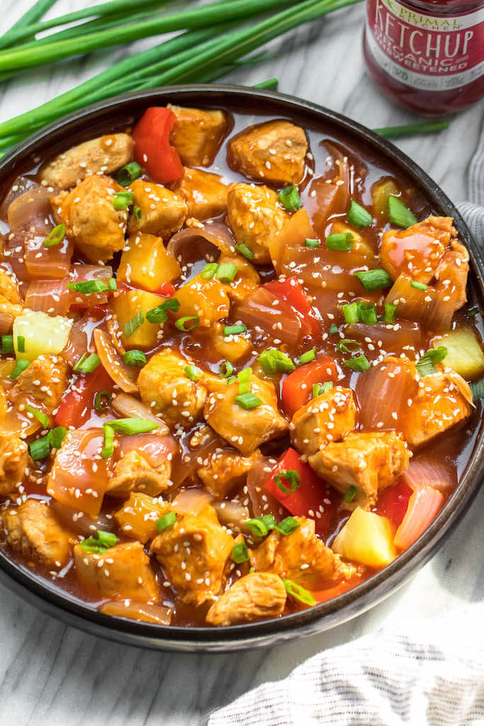 19. Instant Pot Sweet and Sour Chicken