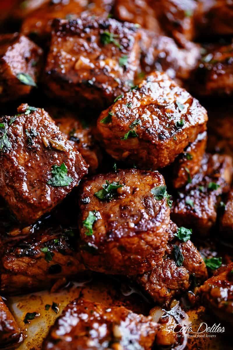 19. Pan-Seared Cajun Butter Steak Bites