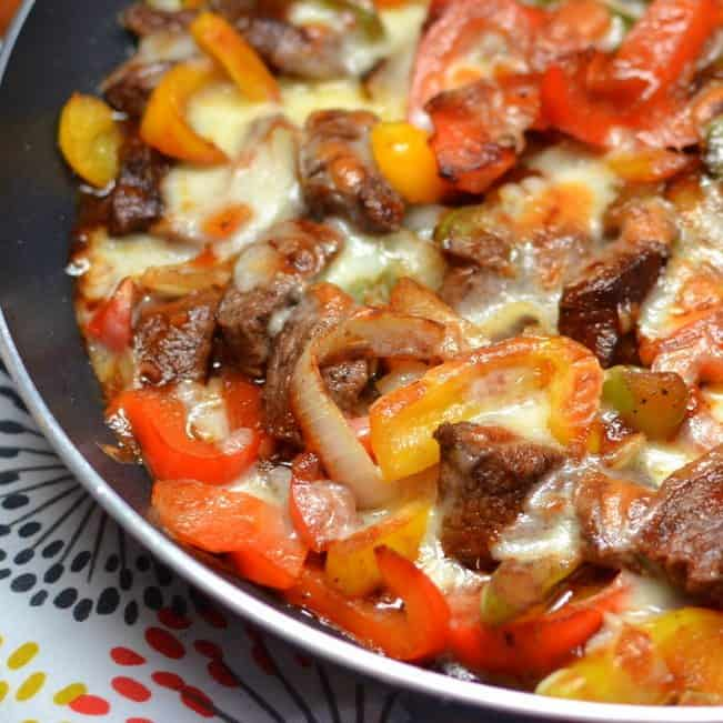 19. Philly Steak and Cheese Skillet