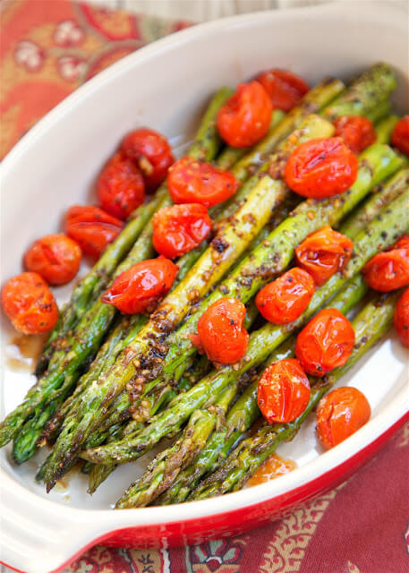 19. Roasted Asparagus and Tomatoes