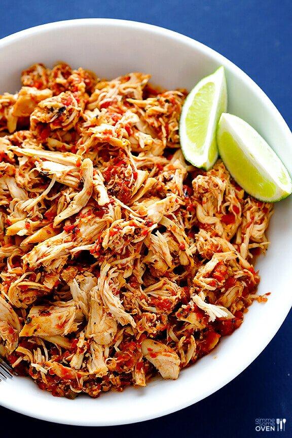 2.2-Ingredient Slow Cooker Salsa Chicken