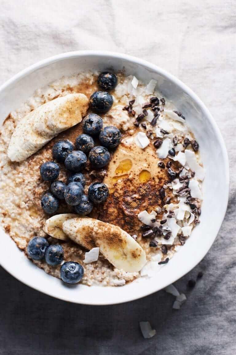 2. Healthy Peanut Butter Oatmeal Bowl