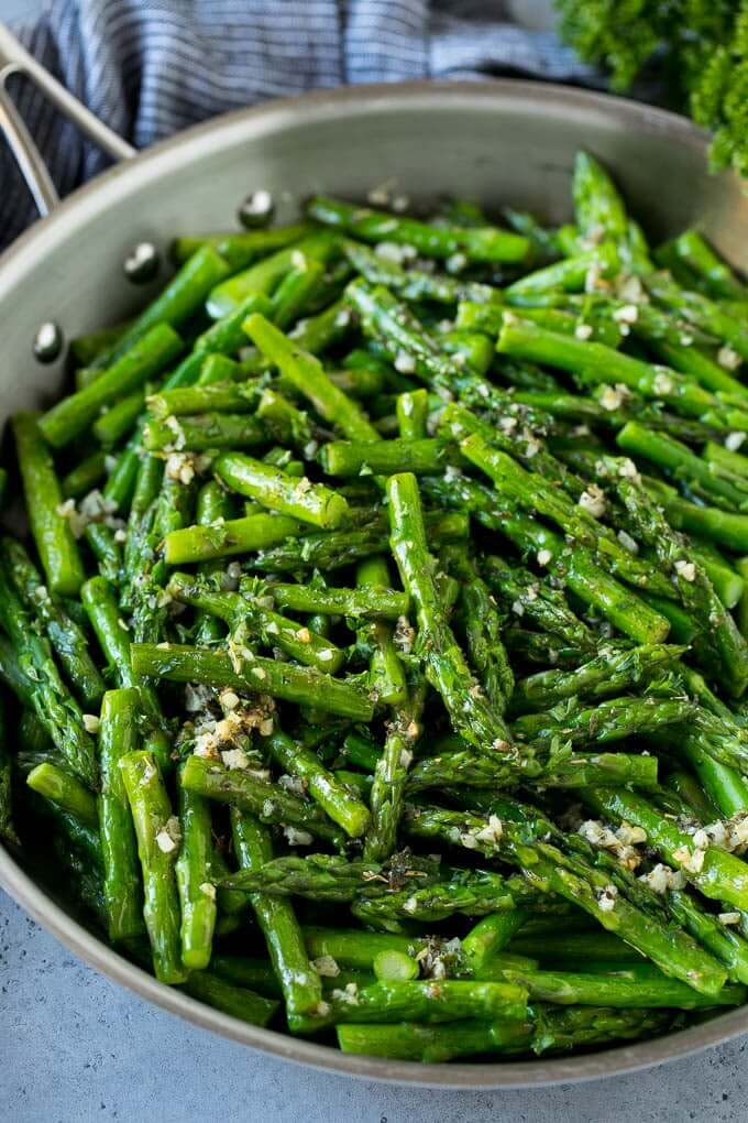 2. Sauteed Garlic and Herb Asparagus