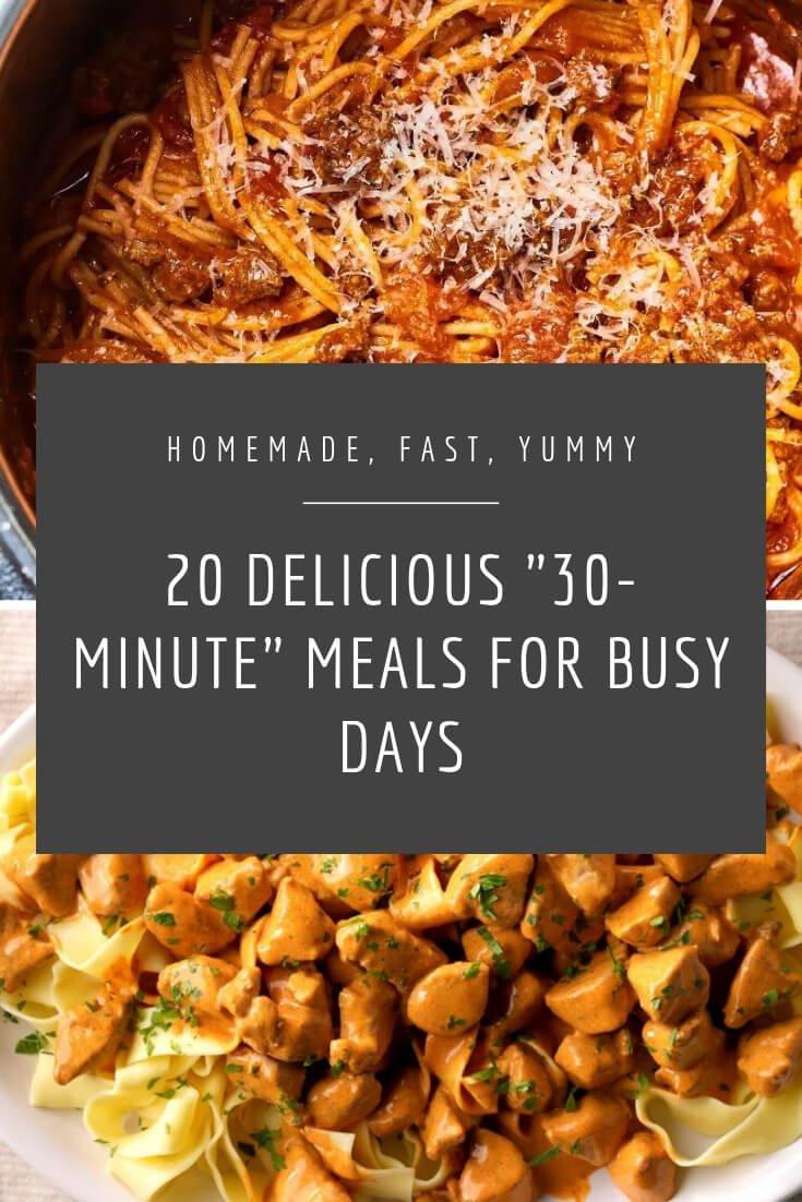 20 30 minutes meals