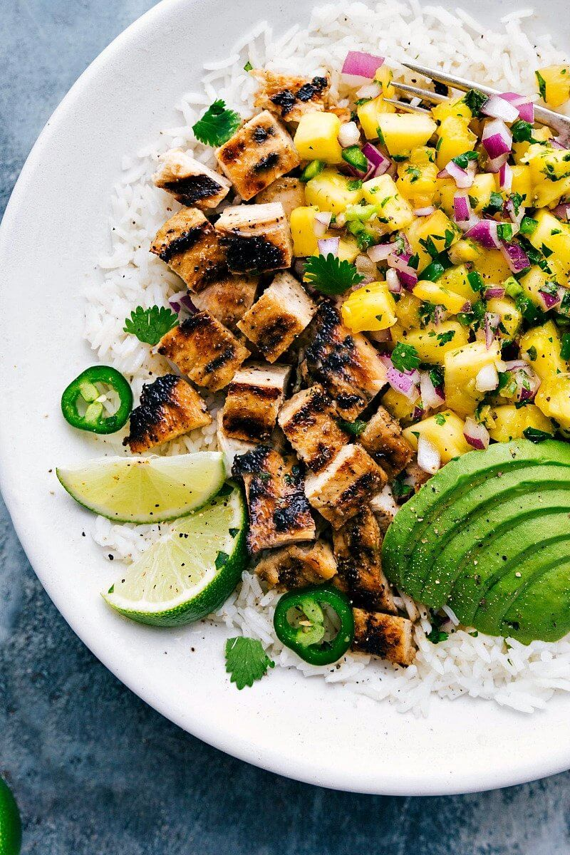 20. Grilled Chicken Pineapple Bowl