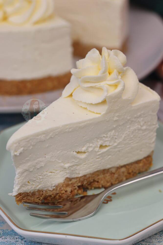 20. No Bake Vanilla Cheesecake