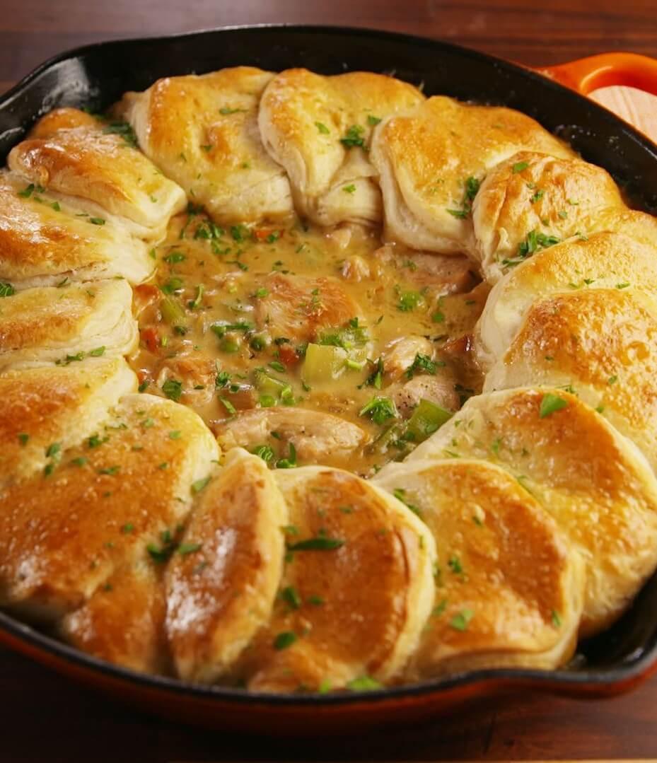 20. Skillet Chicken Pot Pie