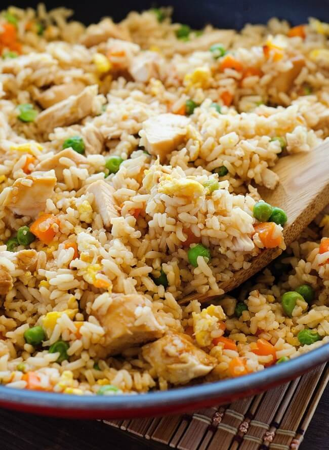 21. 9-Ingredient Chicken Fried Rice
