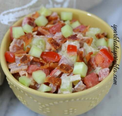 21.Bacon Cucumber Tomato Salad