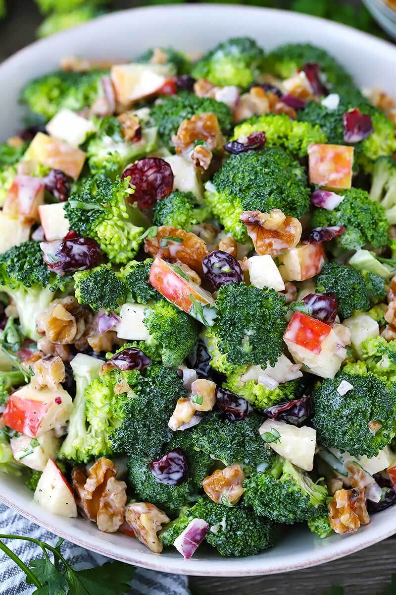 21. Broccoli Salad with Apples, Walnuts and Cranberries