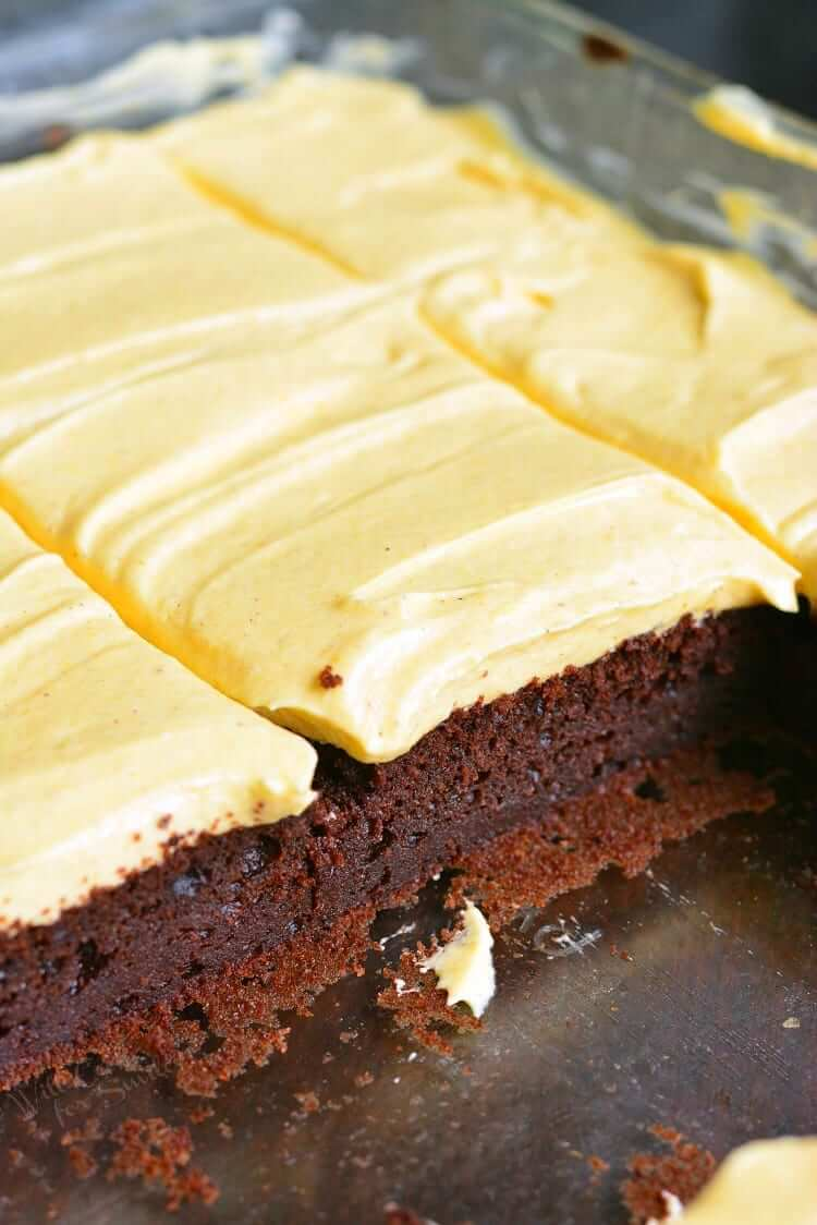 21. Frosted Pumpkin Brownies