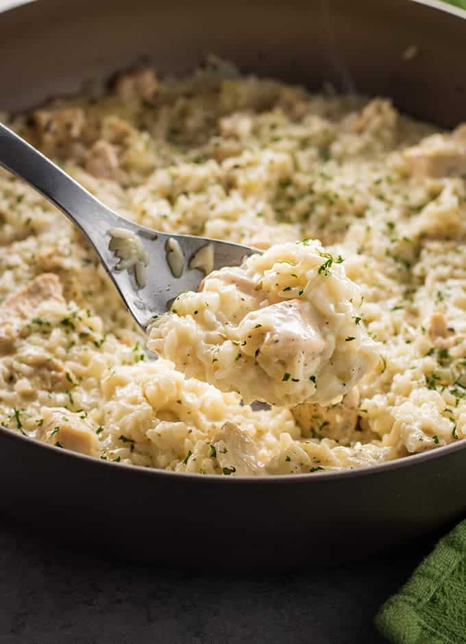 22. Creamy Parmesan One Pot Chicken and Rice