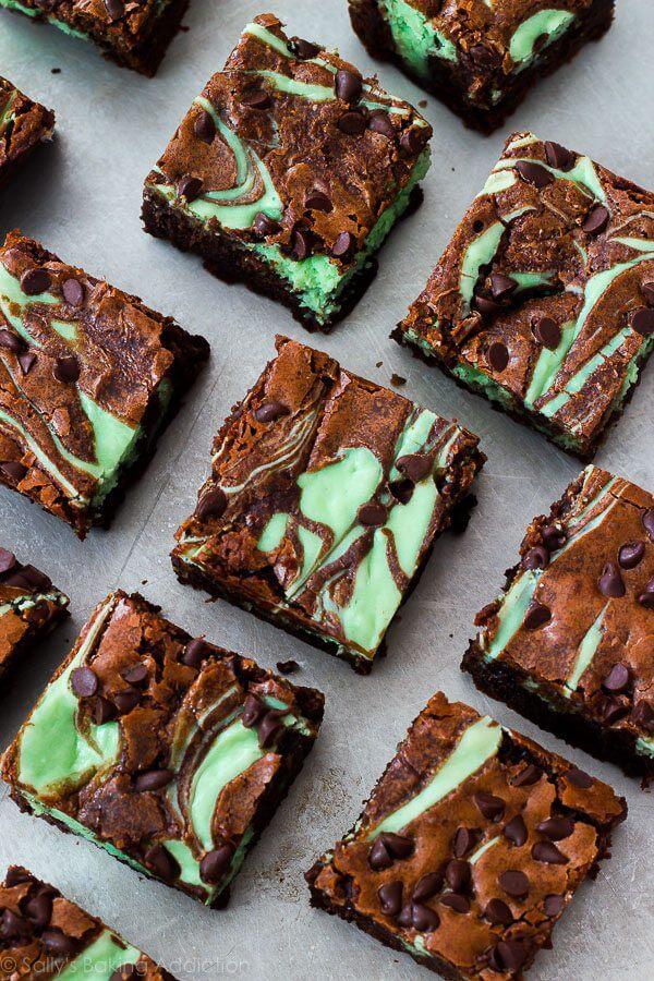 22. Mint Chocolate Cheesecake Brownies