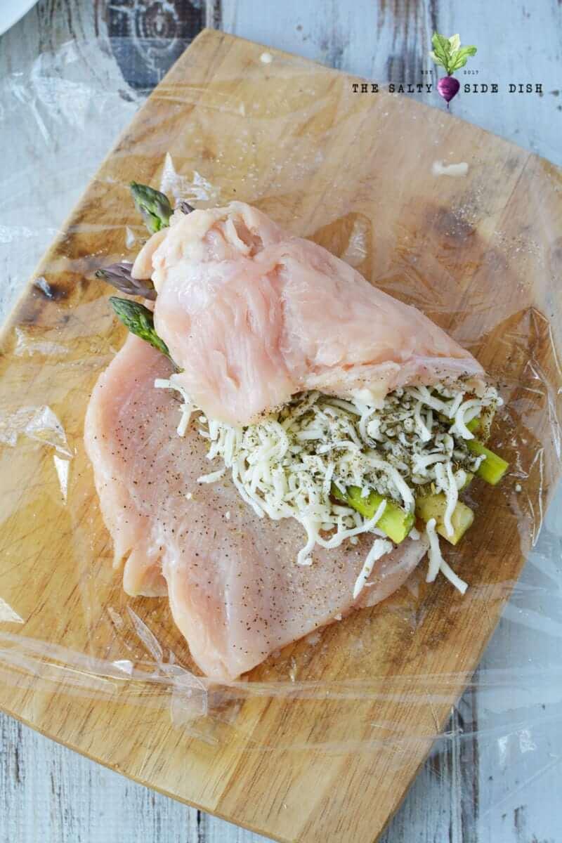 24.Asparagus Stuffed Chicken