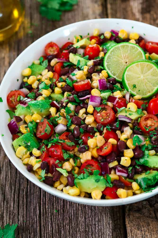 24. Avocado Black Bean Corn Salad