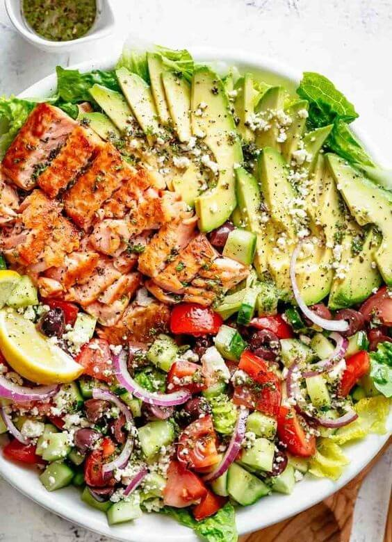 3. Avocado Salmon Salad