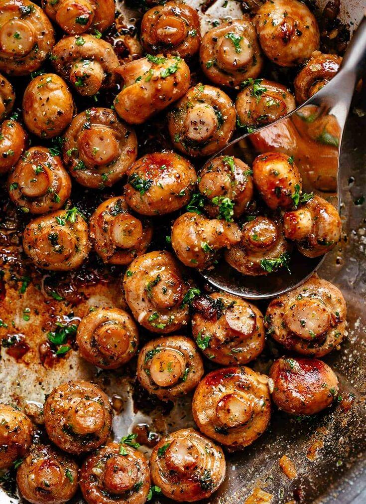 3.Buttery Garlic Mushrooms