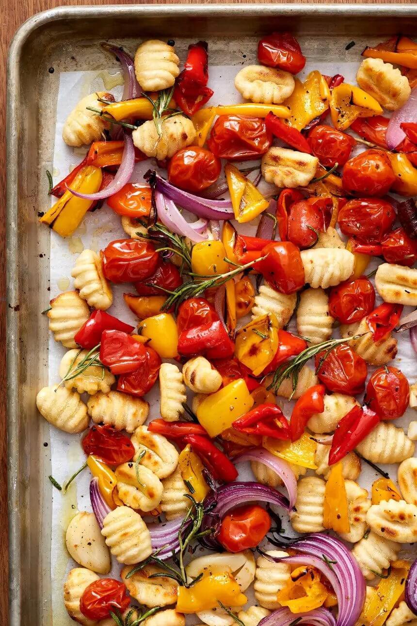 3.Crispy Sheet Pan Gnocchi and Veggies