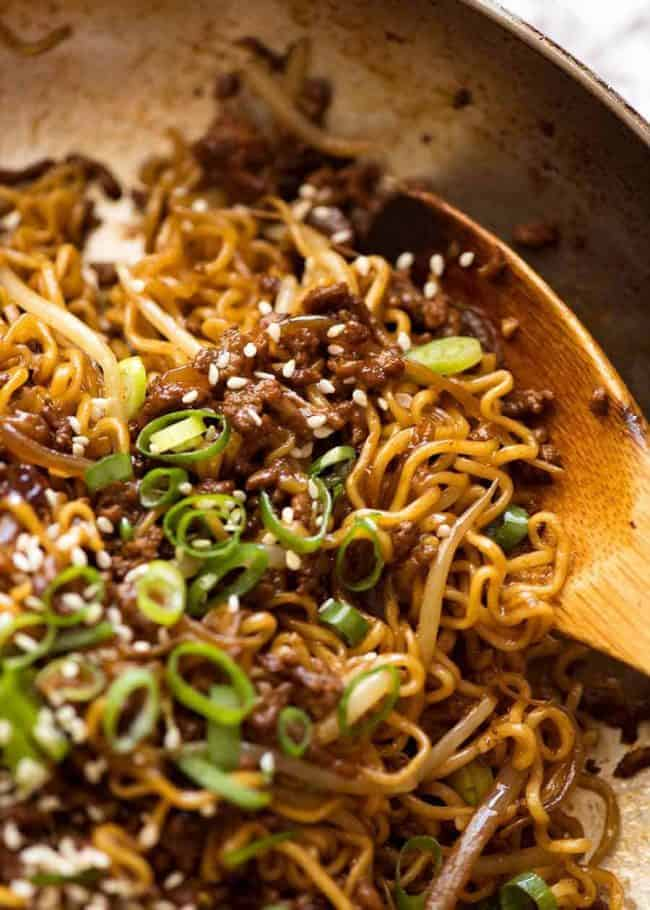 4. Asian Beef Noodles
