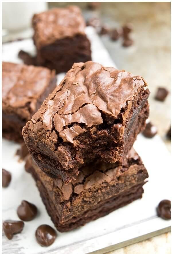 4. Fudgy Crack Brownies