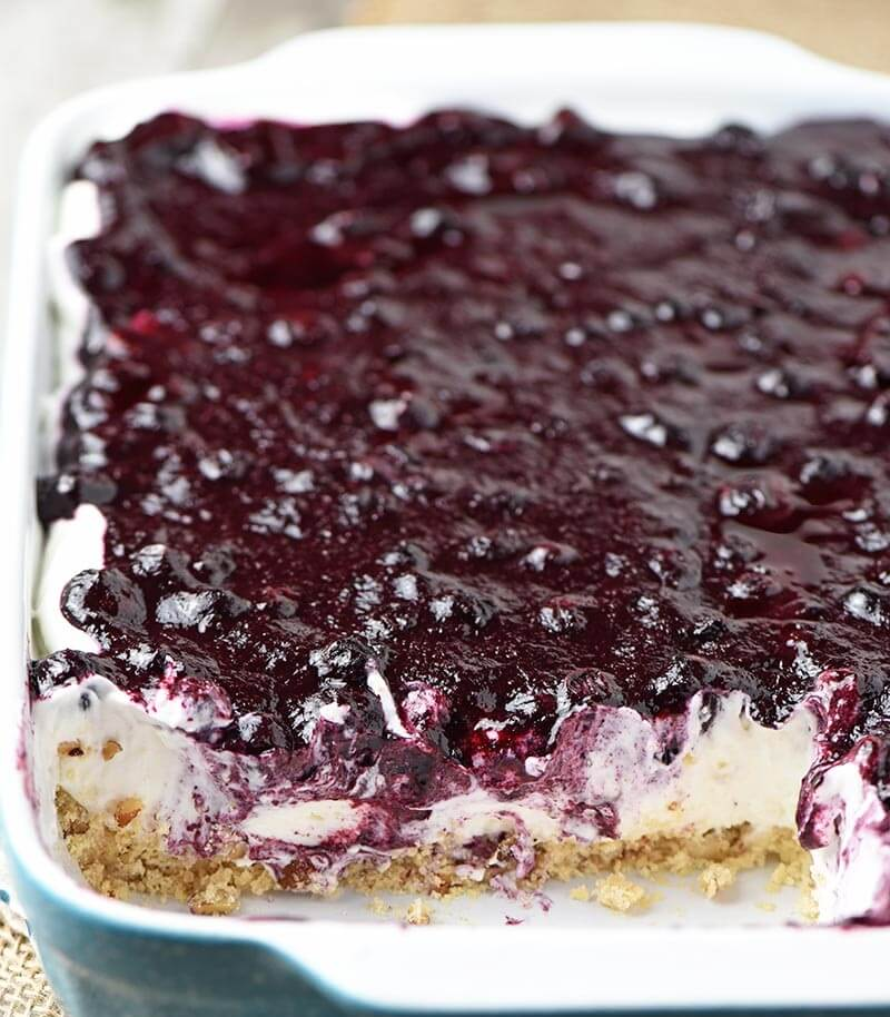 4. No Bake Blueberry Cheesecake