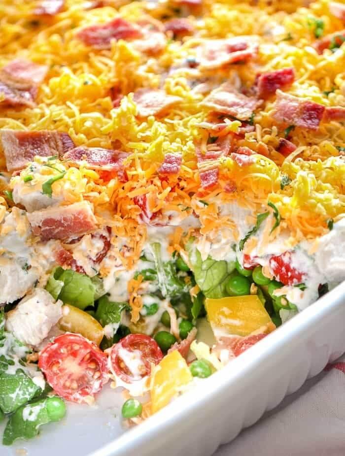 4. Ranch 7-Layer Salad