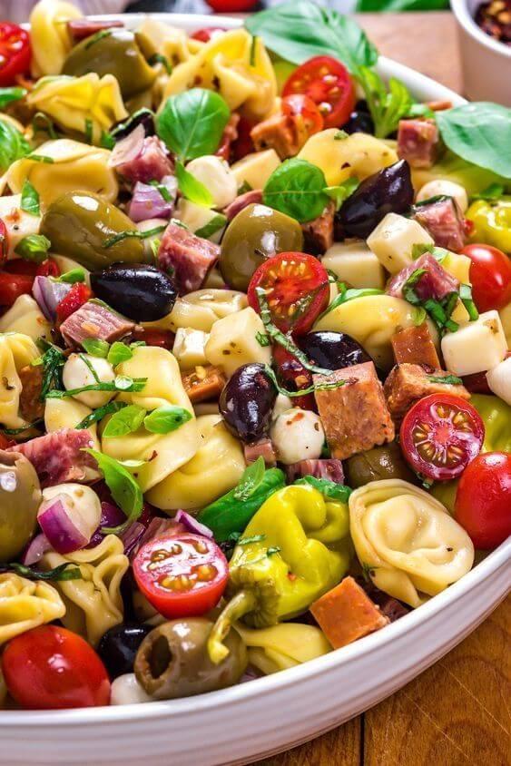 5. Antipasto Tortellini Pasta Salad