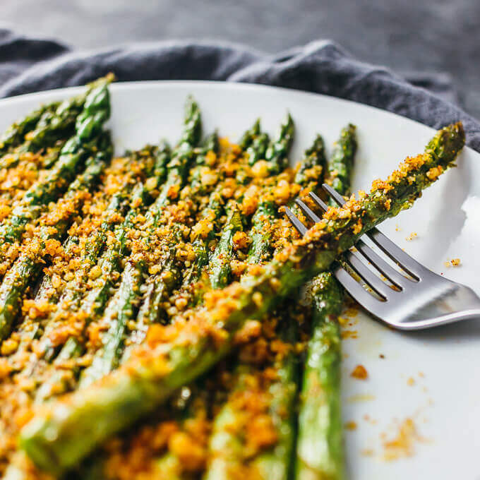 5. Baked Asparagus with Grated Parmesan Cheese