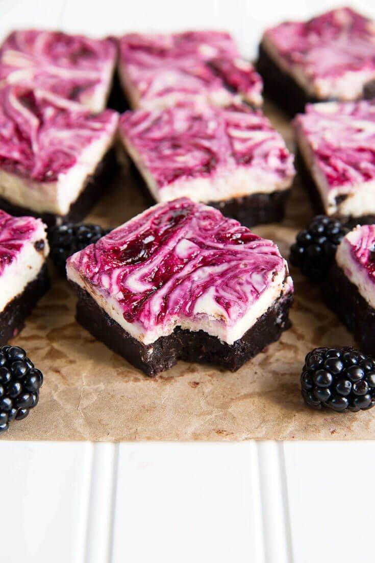 5. Blackberry Cheesecake Brownies