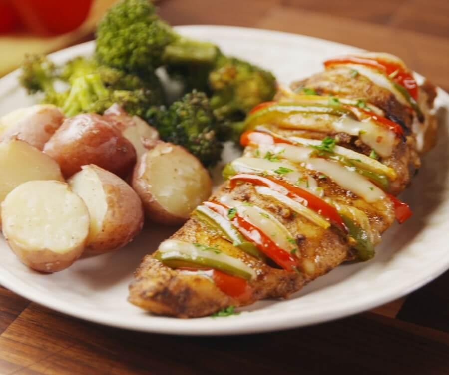 5.Cajun Stuffed Chicken