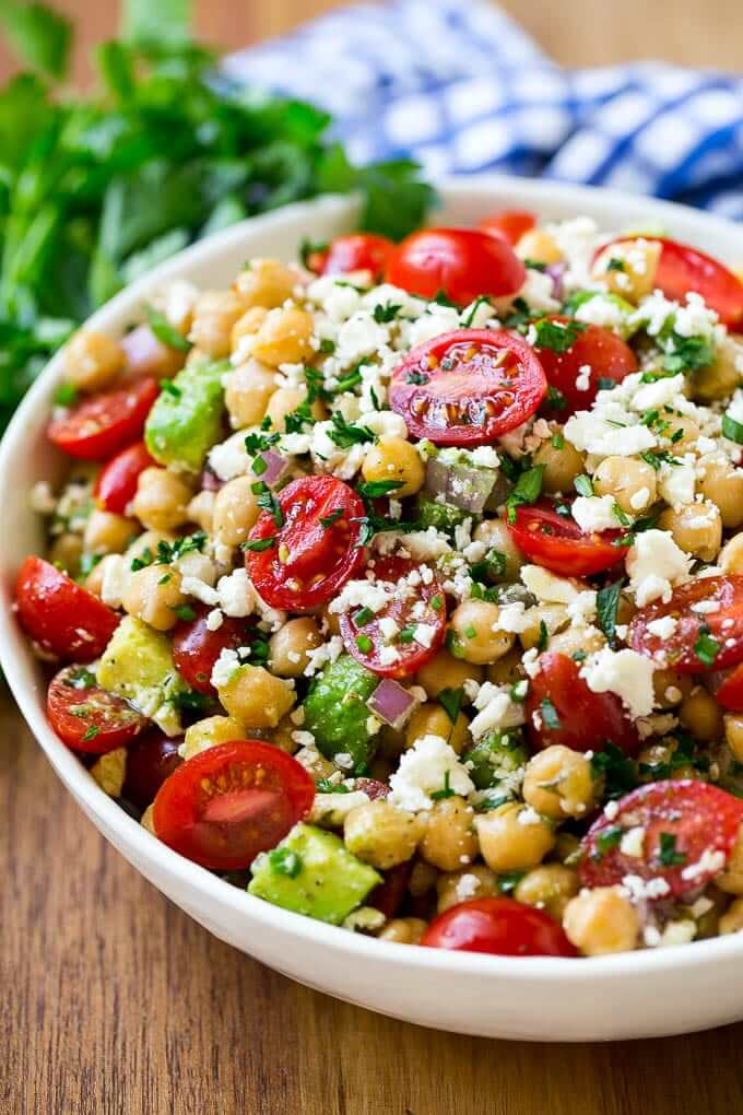 5. Chickpea Tomato Avocado Salad