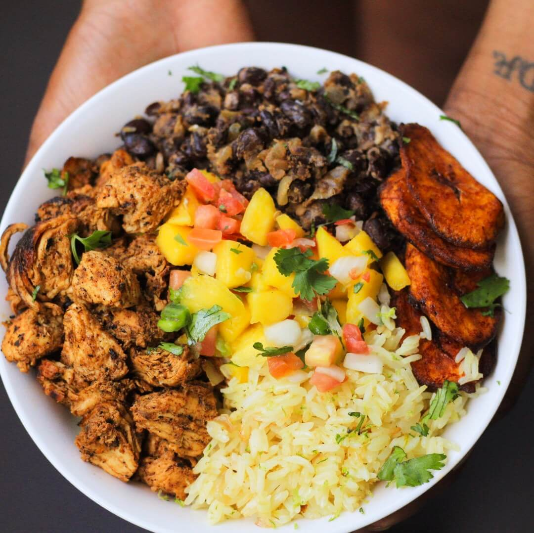 5.Cuban Chicken & Black Bean Rice Bowls