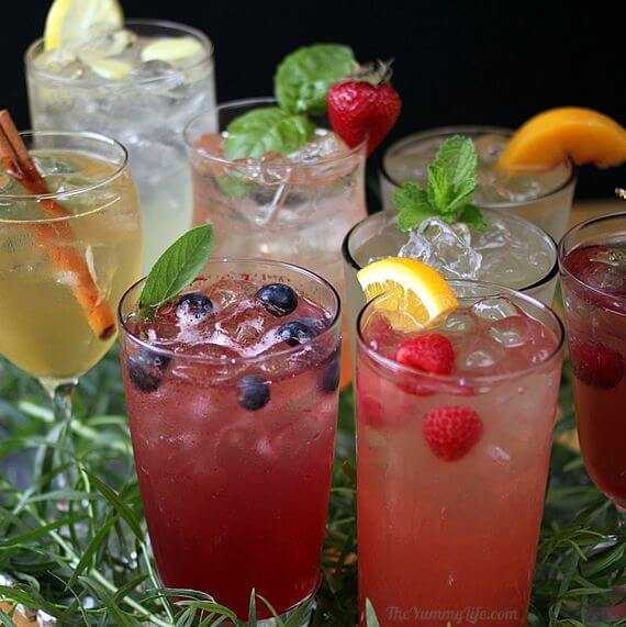 5. Fruits and Herbs Sparkling Water