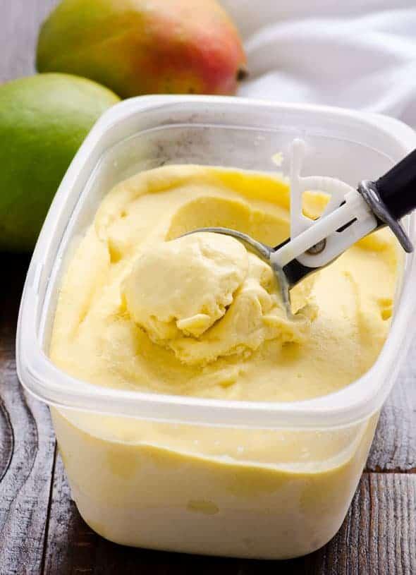 5. Gluten-Free Mango Coconut Ice Cream