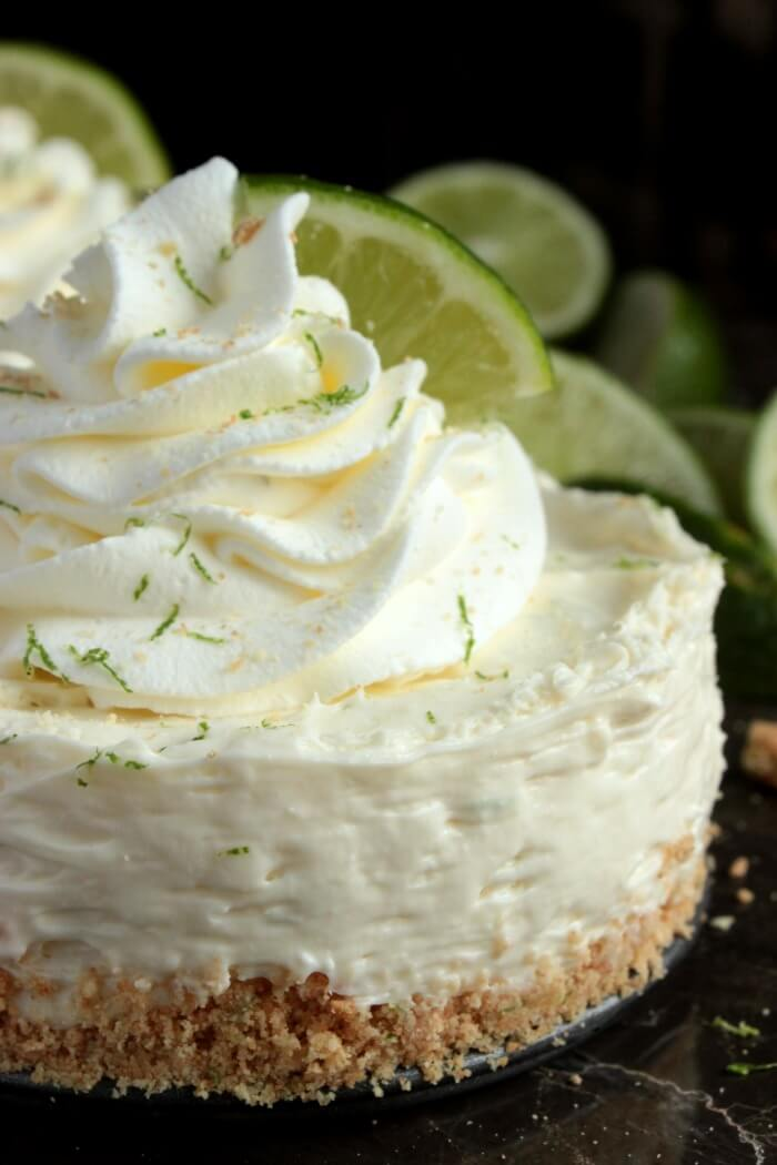 5. Mini No-Bake Key Lime Pie Cheesecake