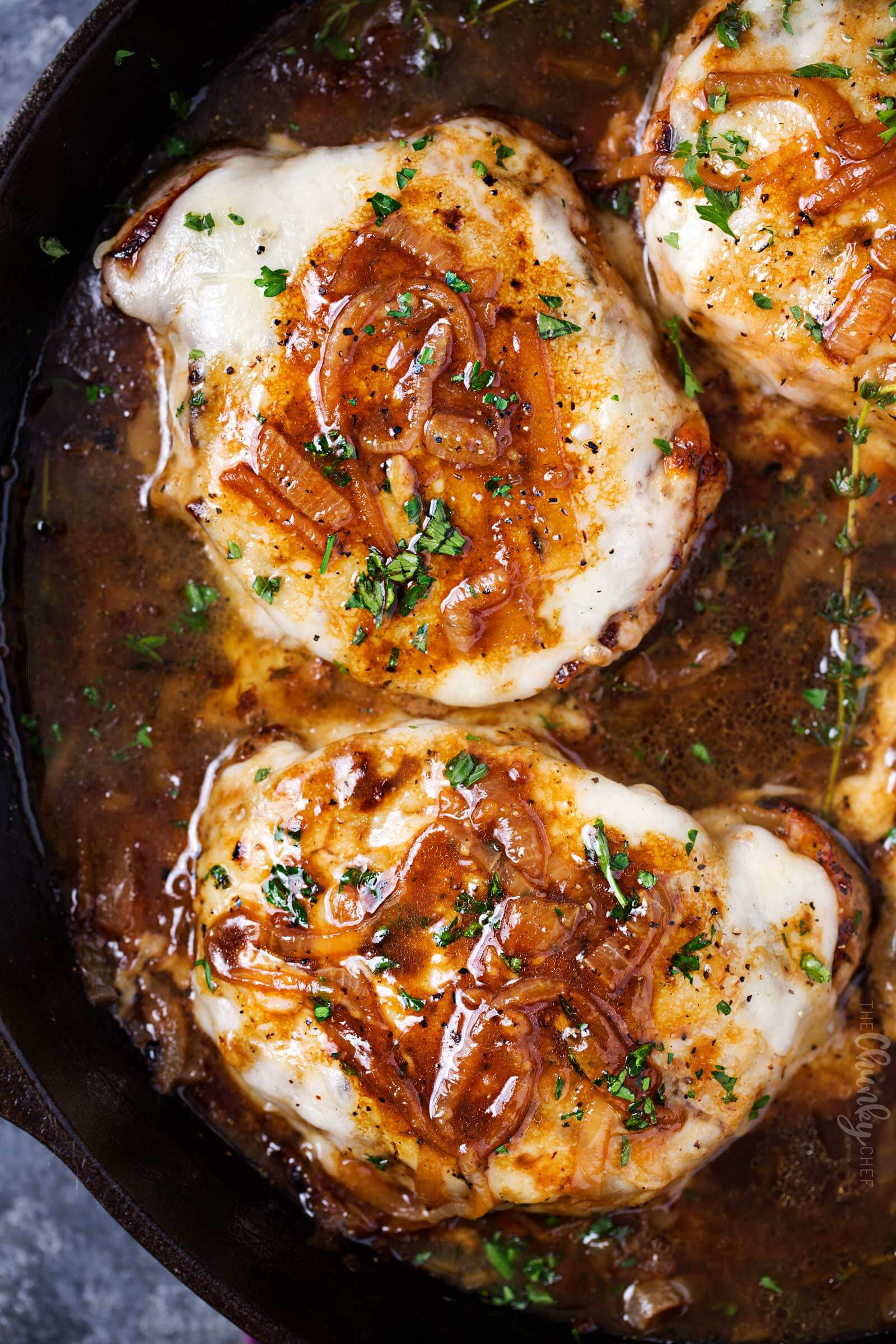 5.One Pan French Onion Smothered Pork Chops