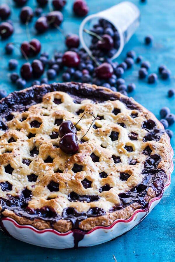 5. Vanilla Bourbon Cherry-Blueberry Pie