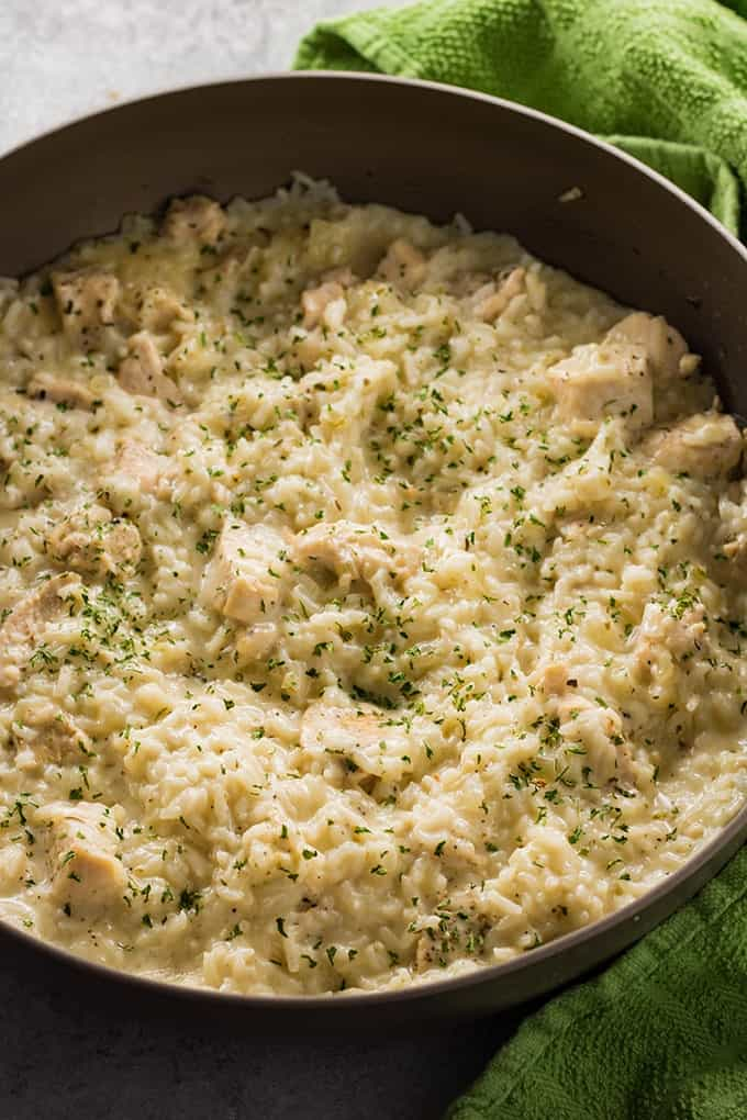 6. Creamy Parmesan One Pot Chicken and Rice