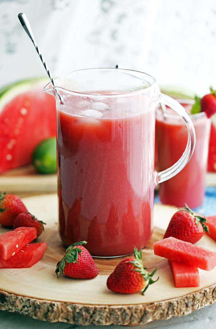6. Fresh Strawberry Watermelon Soda