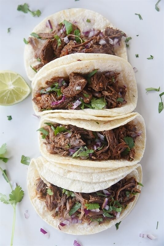 6.Mexican Shredded Beef Tacos