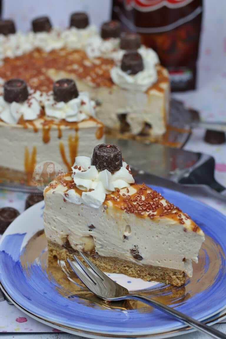 6. No Bake Caramel Rolo Cheesecake