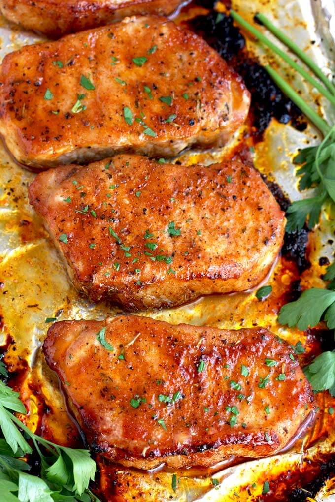 7. Oven Baked Pork Chop