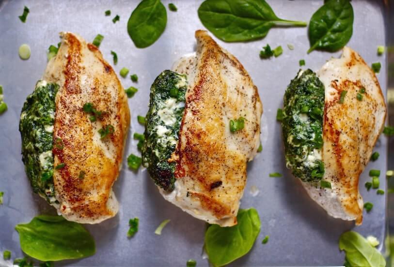 7. Spinach Stuffed Chicken
