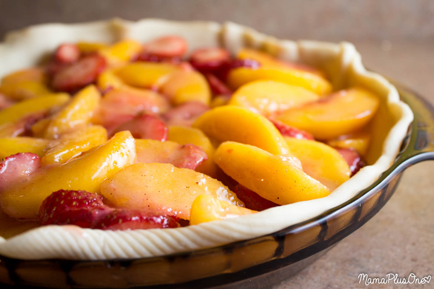 7. Strawberry Peach Pie