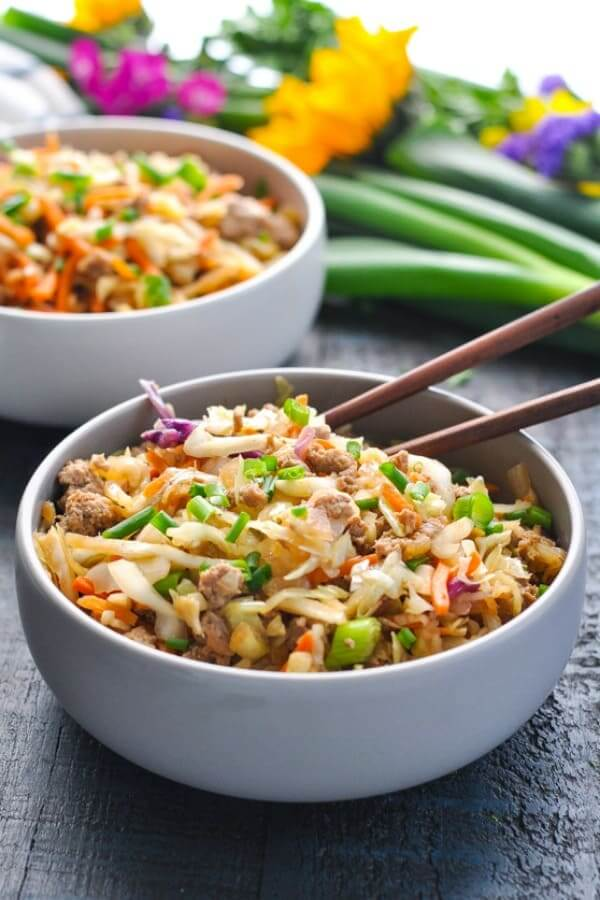 8. Chinese Egg Roll in a Bowl