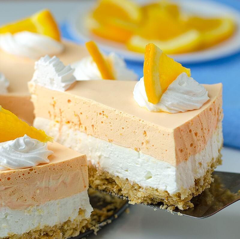8. No Bake Summer Orange Creamsicle Cheesecake