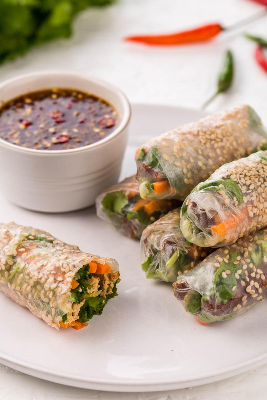 8.Vietnamese Tofu Summer Rolls